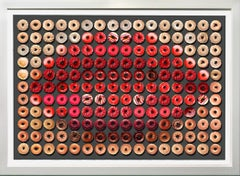 Donut Kiss, 41x55, One of a Kind Photographic Arrangement,