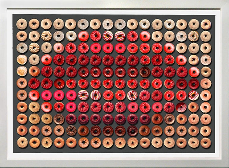 Candice CMC Portrait Photograph - Donut Kiss, 41x55, One of a Kind Photographic Arrangement,