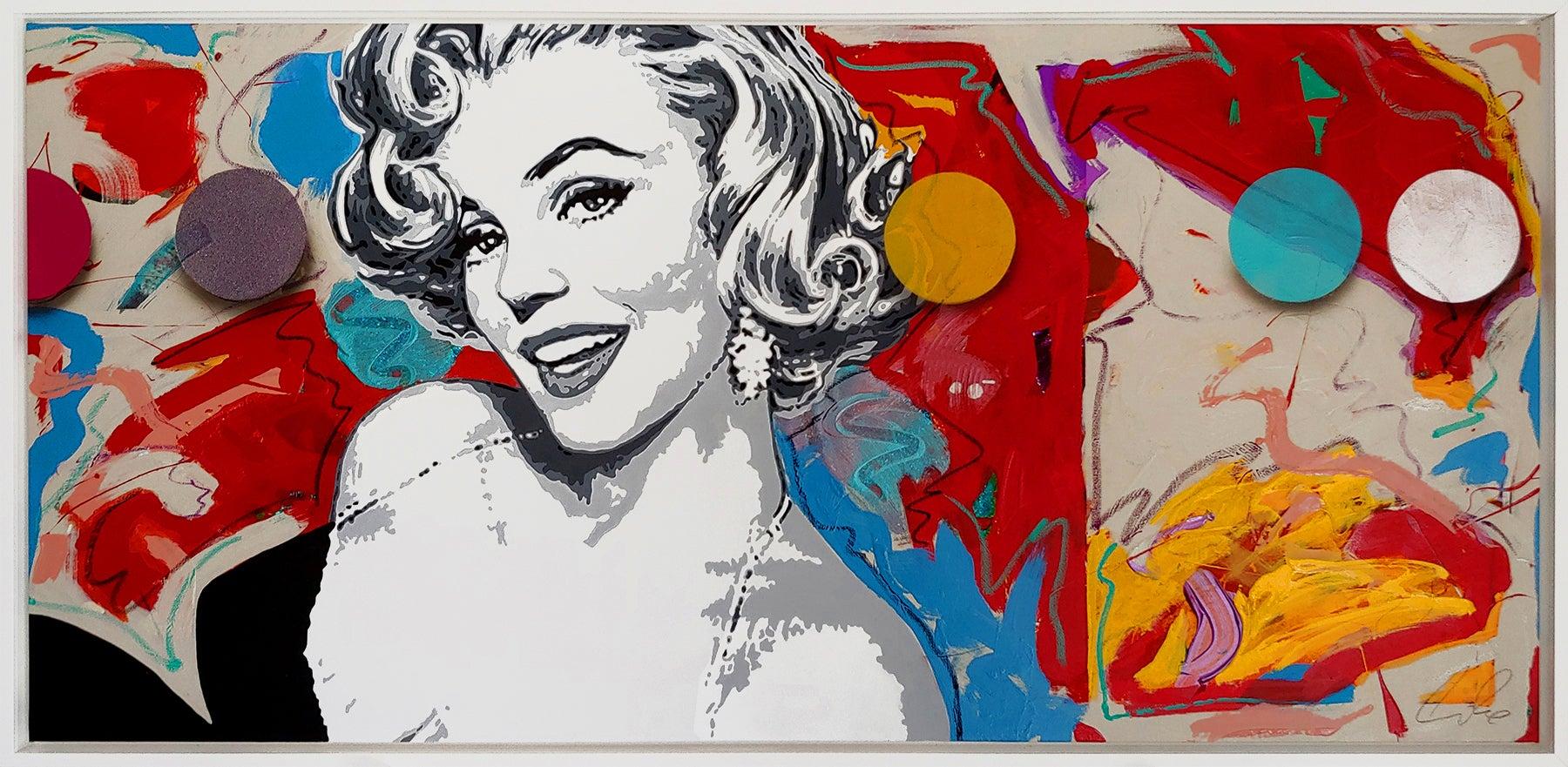 """""""LUCKY Girl""""  Oil and Acrylic on Canvas,  30x64"""""""