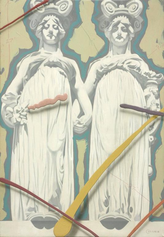 "Gothic Women, oil on canvas, 84""x58"""
