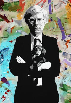 """""""Amos and Andy Warhol""""  mixed media acrylic and archival ink on canvas"""