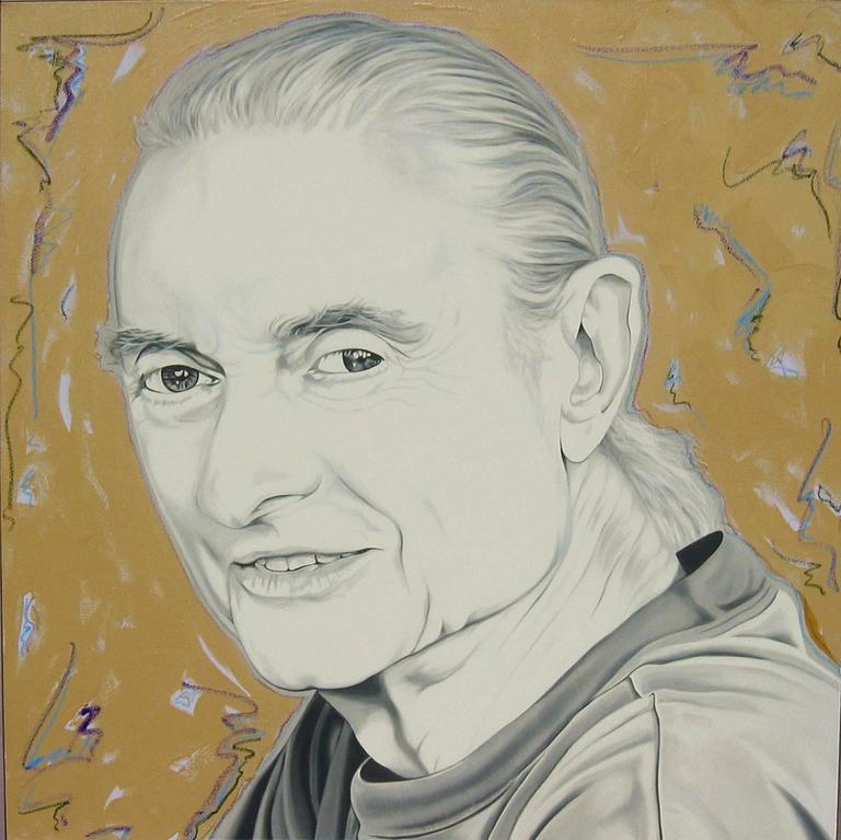 """The Last Portrait of Roy Lichtenstein by Ceravolo"", 74x82x10 Oil & Aluminum For Sale 4"