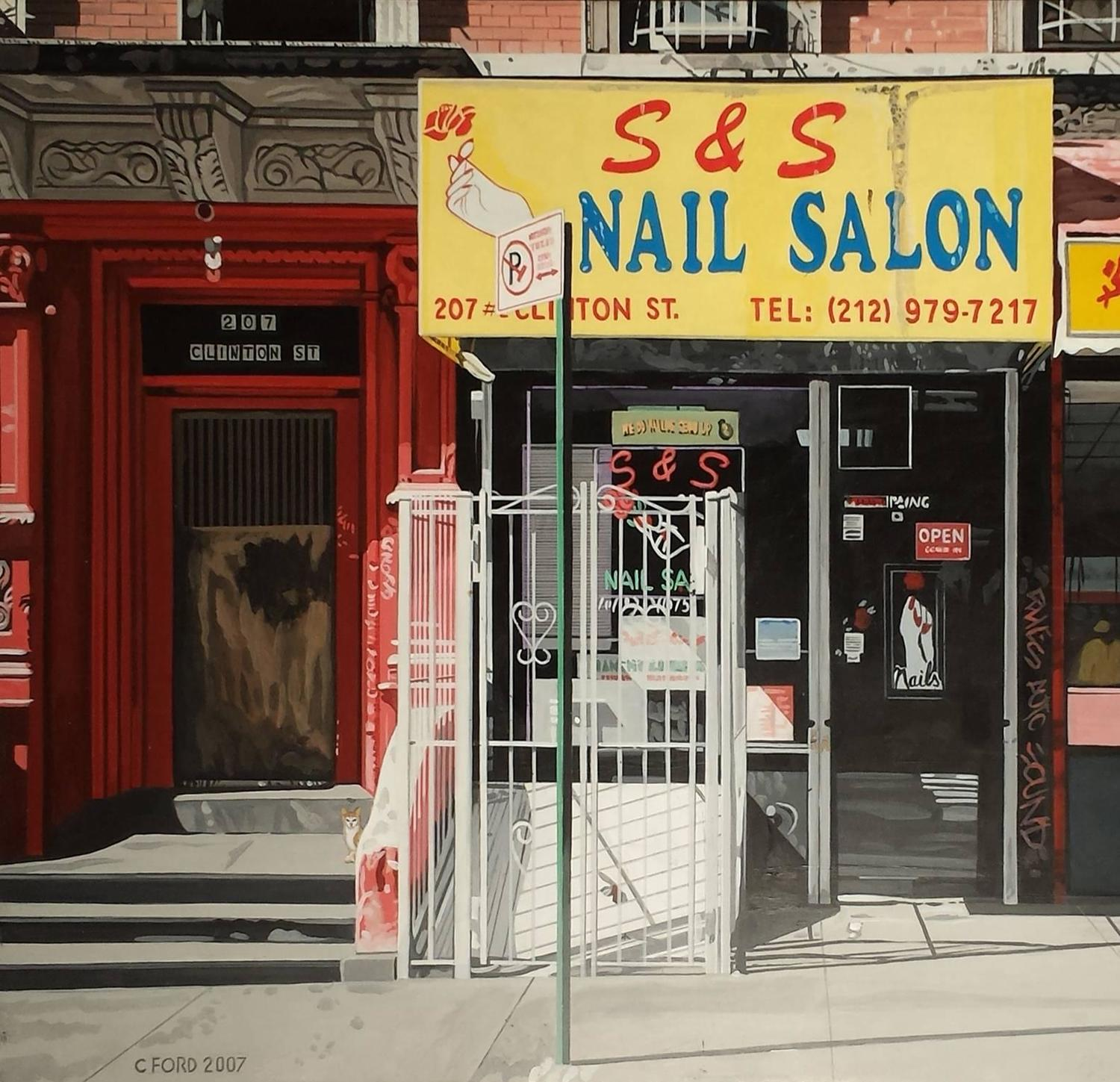 Charles ford new york nail salon 17x26 acrylic on for 24 nail salon nyc