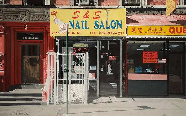 Charles ford new york nail salon 17x26 acrylic on for Acrylic nail salon nyc