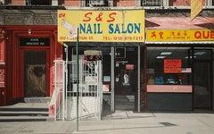 "New York Nail Salon, 17x26"", Acrylic on masonite"