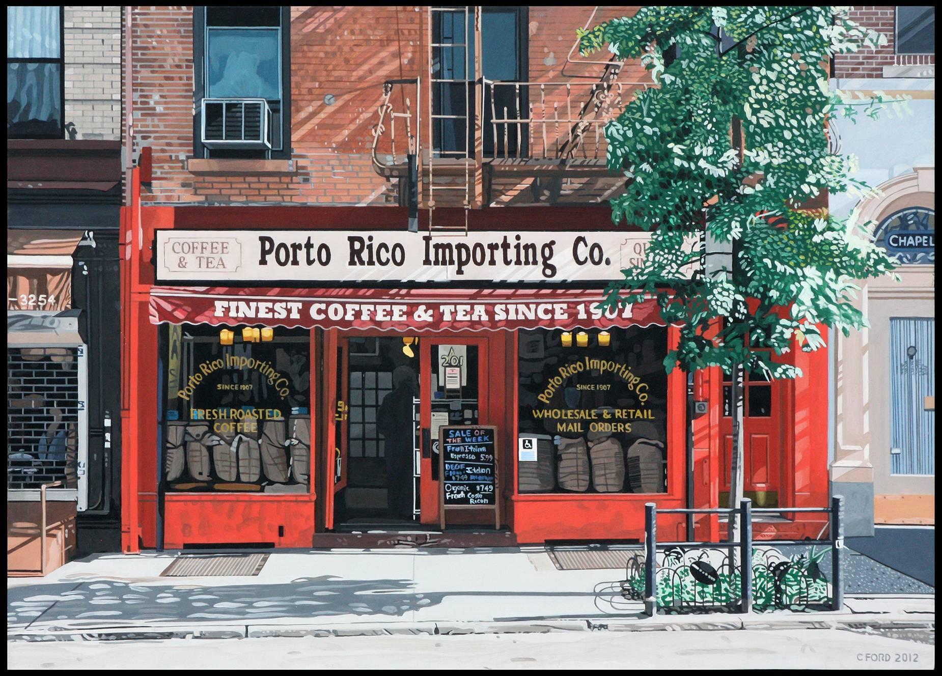 Finest Coffe and Tea, 18x25x1.5, Acrylic on Masonite