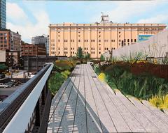 The High Line at 17th, 16x20x1.5, acrylic on Masonite