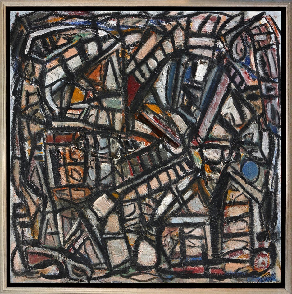 """Composition in Texture, 38x38"""", 2008"""