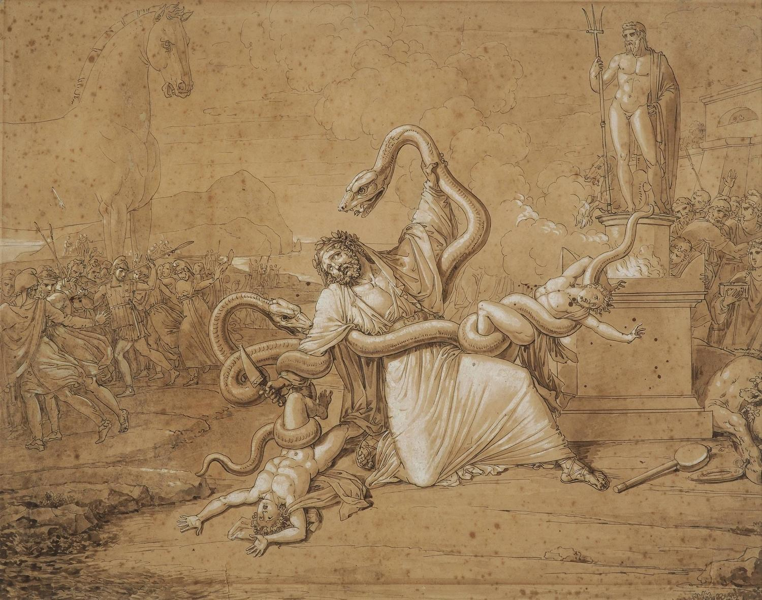 Luigi Ademollo - Laocoon and His Sons Attacked by Serpents ...