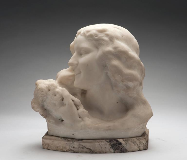 Bust of a Girl - Sculpture by Frans Jochems