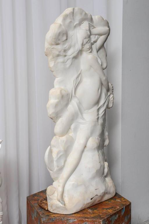Night - Art Nouveau Sculpture by Hector Lemaire