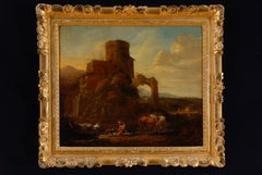 A Drover with His Animals, Beneath a Ruined Castle