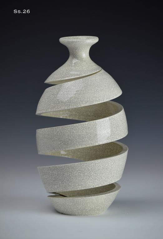 Michael Boroniec - Spatial Spiral White Crackle I  1