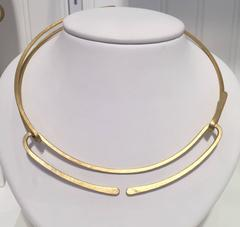 Double About Face Brass Necklace
