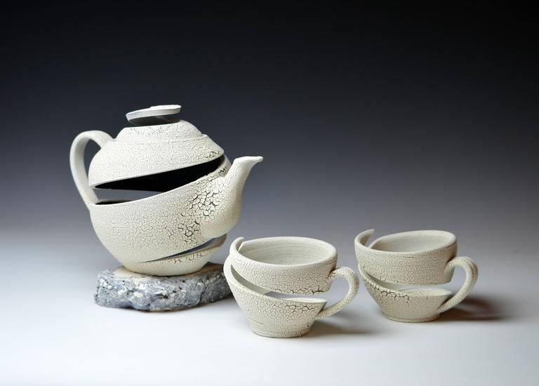 Michael Boroniec - Tea Pot Old Crawl I and Teacups 1