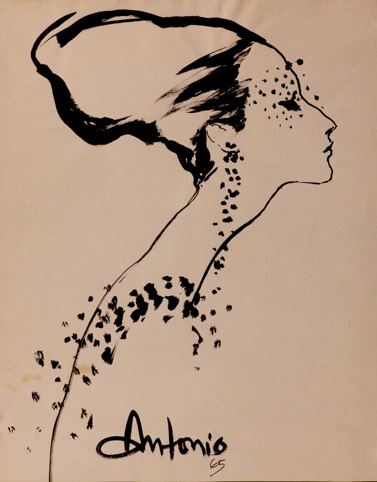 Lady in profile- Beaded mask (Design by William J label by Bill Cunningham)