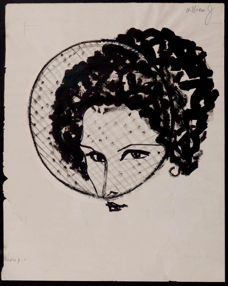 Veiled Hat - Drawn for Bill Cunningham