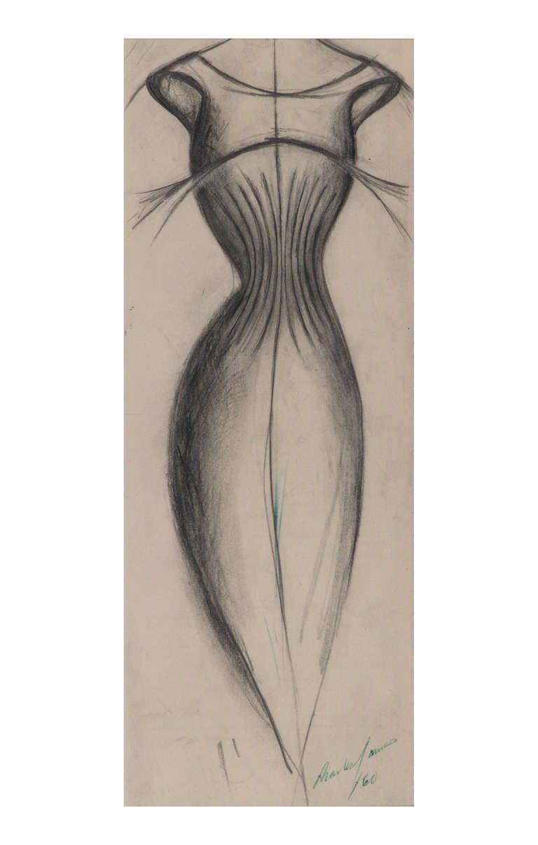 Charles James Charles James Original Drawing Dress