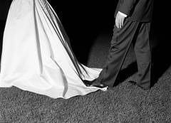 Untitled (Foot on a Bride's Dress)