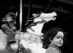 Gypsy Girl at the Carousel, Coney Island