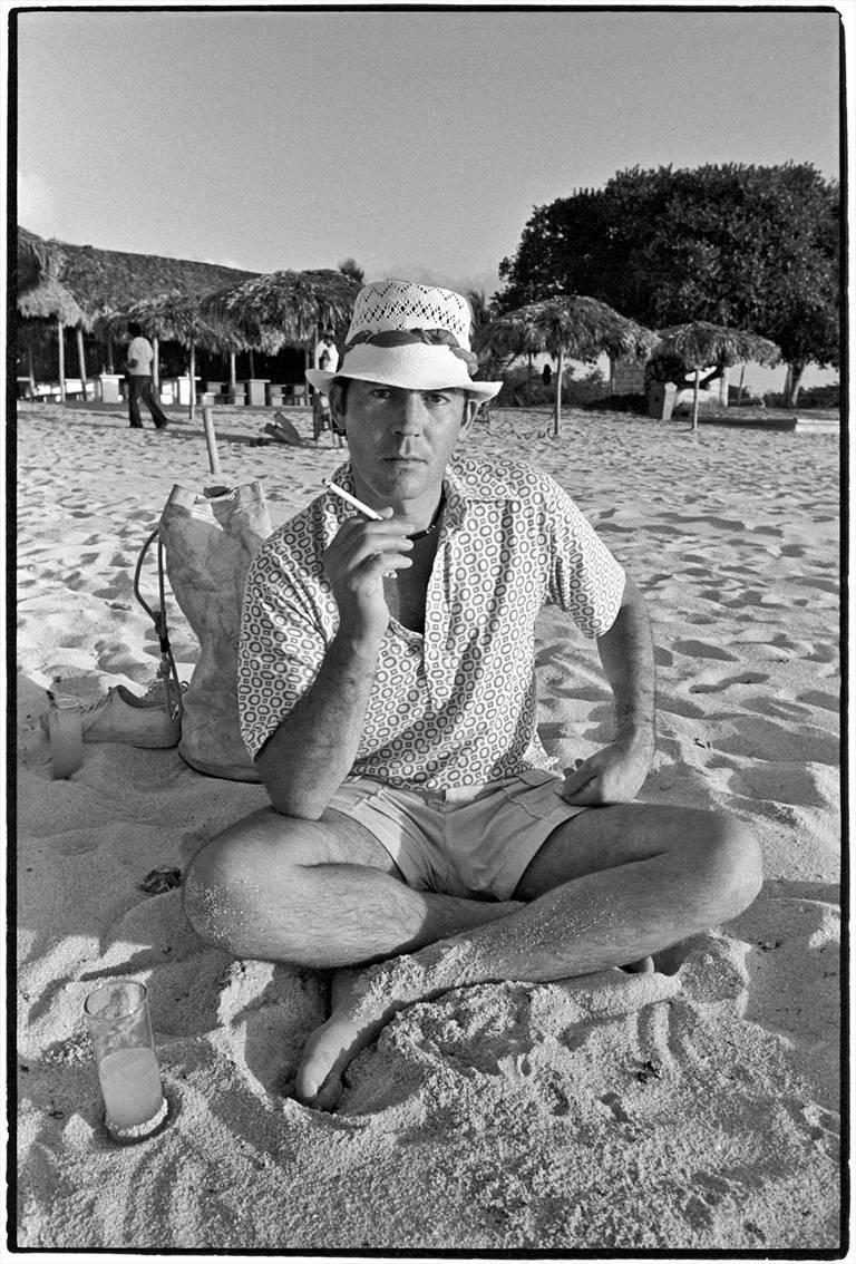 Al Satterwhite Black and White Photograph - Hunter S. Thompson