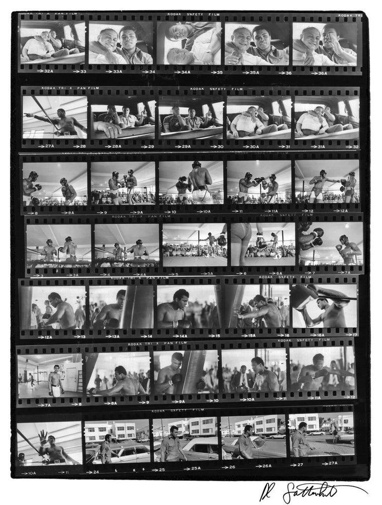 Al Satterwhite Black and White Photograph - Muhammad Ali Contact Sheet