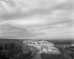 Sunlit Rim and Clouds, Canyon de Chelley