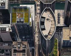 111 S. Wacker Drive (from above, looking west), Chicago, IL, July
