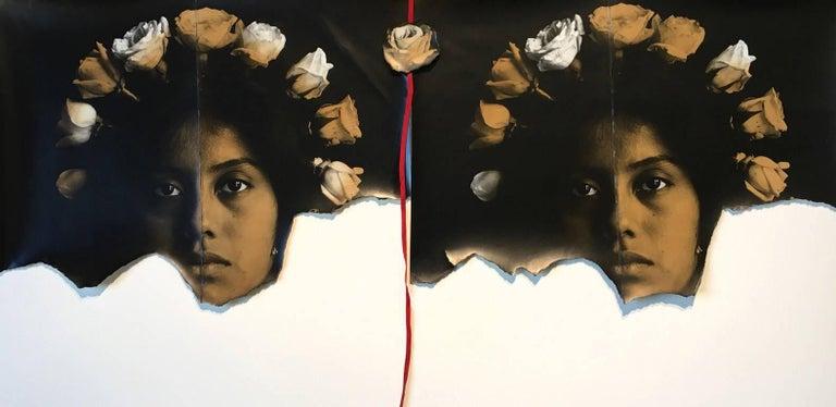 Luis Gonzalez Palma Portrait Photograph - Corona de Rosas (Crown of Roses), from Angeles Mestizos series