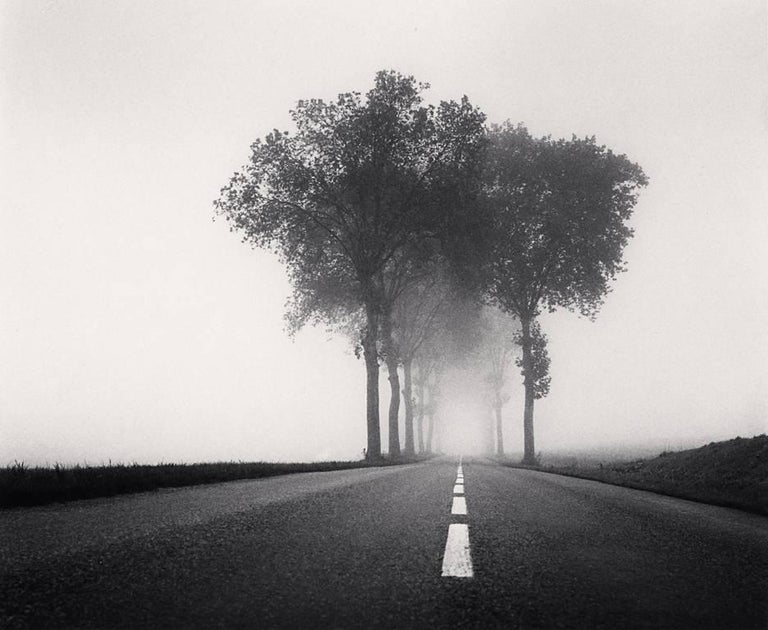 Michael Kenna Black and White Photograph - Homage to Henri Cartier-Bresson, Study 2, Bretagne, France