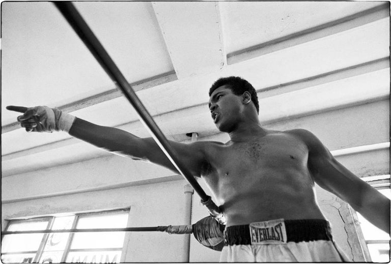 Al Satterwhite Black and White Photograph - Muhammad Ali (Point Left)