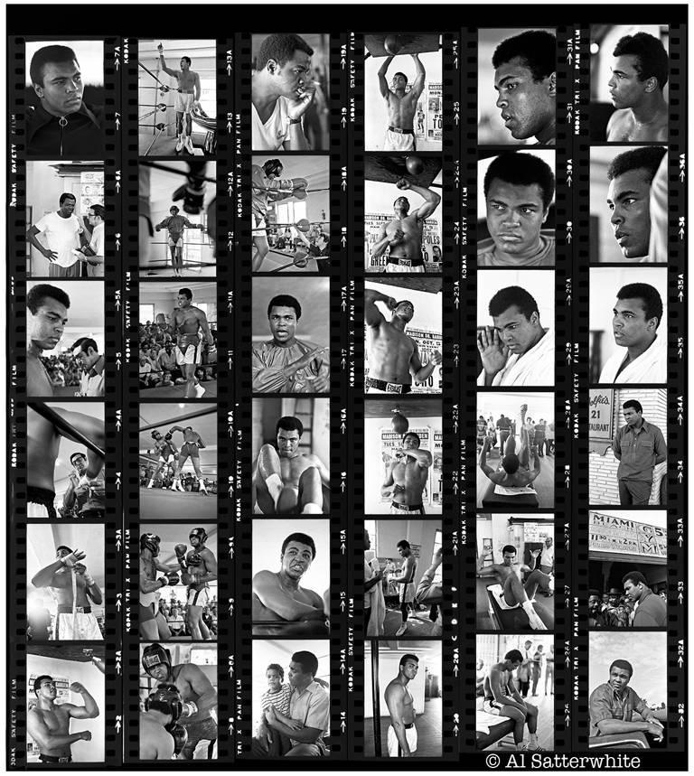 Al Satterwhite Portrait Photograph - Muhammad Ali Contact Sheet