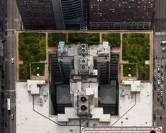 City Hall (from above, looking West), Chicago, IL July 2013