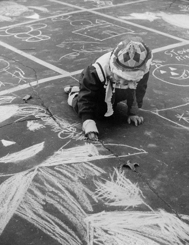 John Albok Black and White Photograph - Behind the Metropolitan Museum of Art