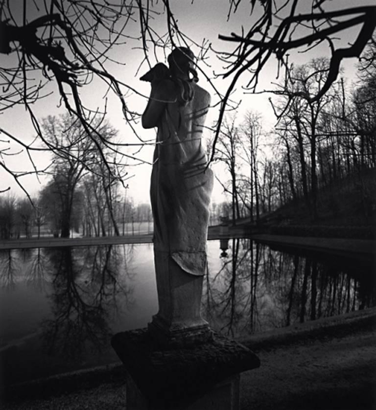 Michael Kenna Black and White Photograph - Contemplation, Parc St. Cloud, Paris, France