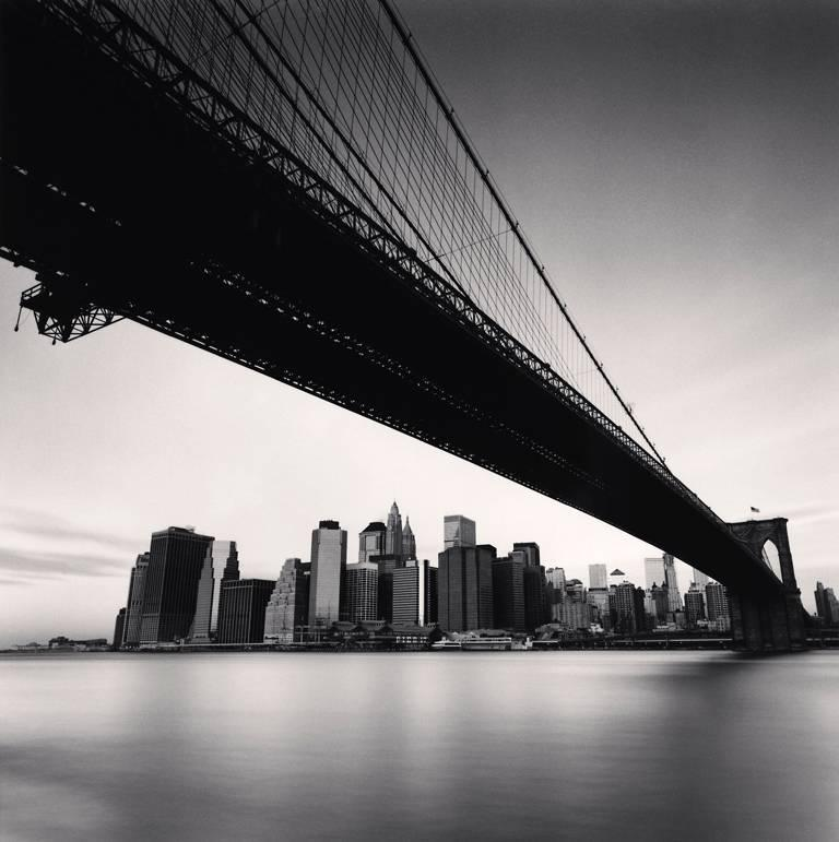 Michael Kenna Black and White Photograph - Brooklyn Bridge, Study 1, New York, USA