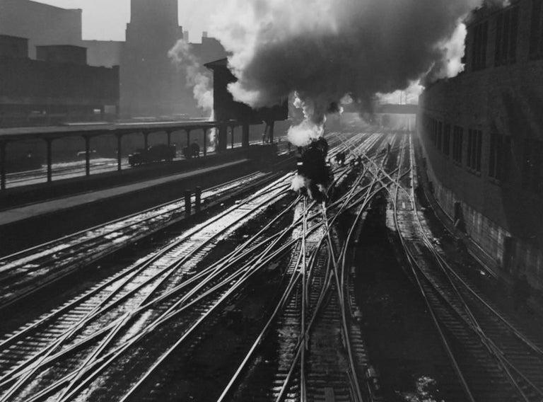 Jack Delano Figurative Photograph - Chicago Railroad Yard