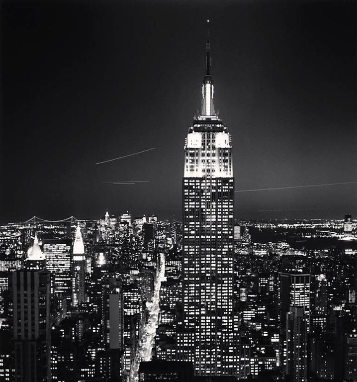 Michael Kenna Black and White Photograph - Empire State Building, Study 2, New York, New York, USA