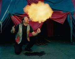 John Johnson Breathing Fire, New Jersey, From World of Wonders