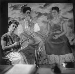 "Nickolas Muray - Frida Painting ""The Two Fridas"""