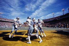 Dallas in End zone, Super Bowl X, Orange Bowl, Miami, FL, January 18, 1976