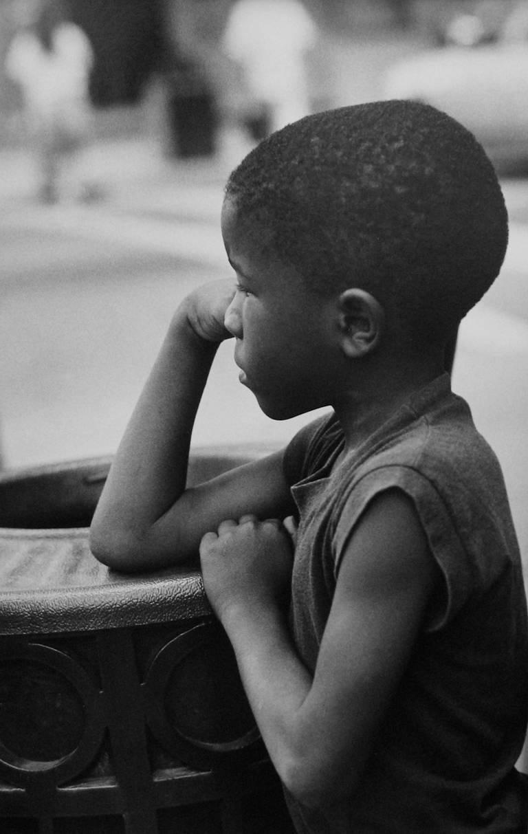 Earlie Hudnall Jr. Black and White Photograph - Classic Boy