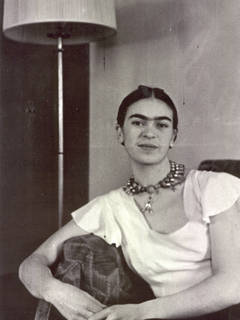 Frida by the Lamp