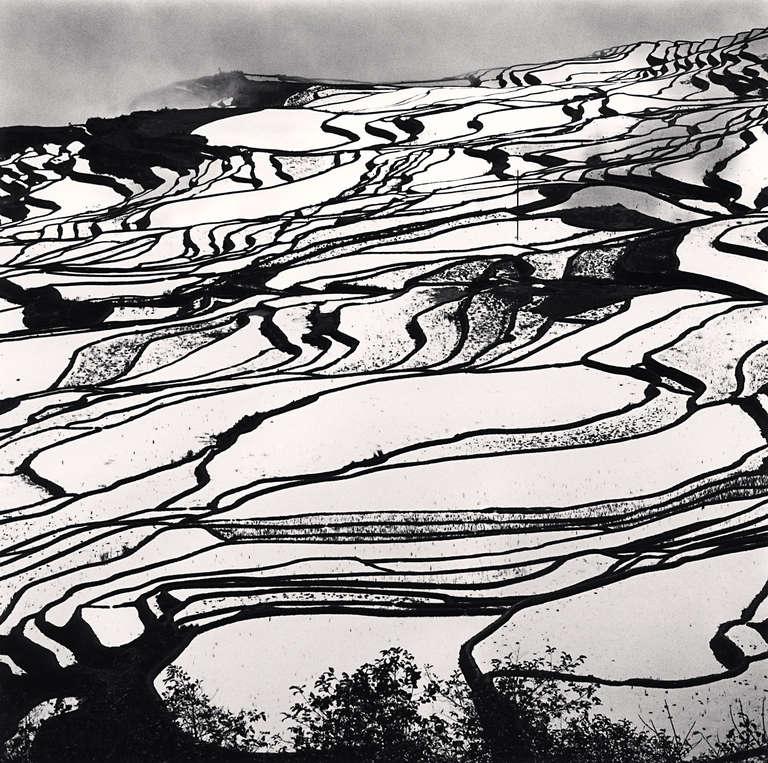Michael Kenna Black and White Photograph - Yuanyang, Study 2, Yunnan, China