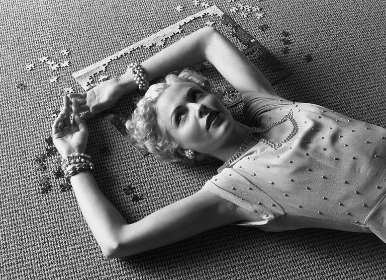 Geof Kern Portrait Photograph - Untitled (Girl and Puzzle)