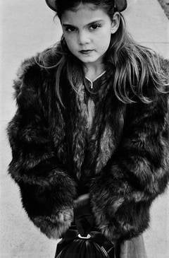 Harold Feinstein - Young Girl Wearing Fur Coat, NYC
