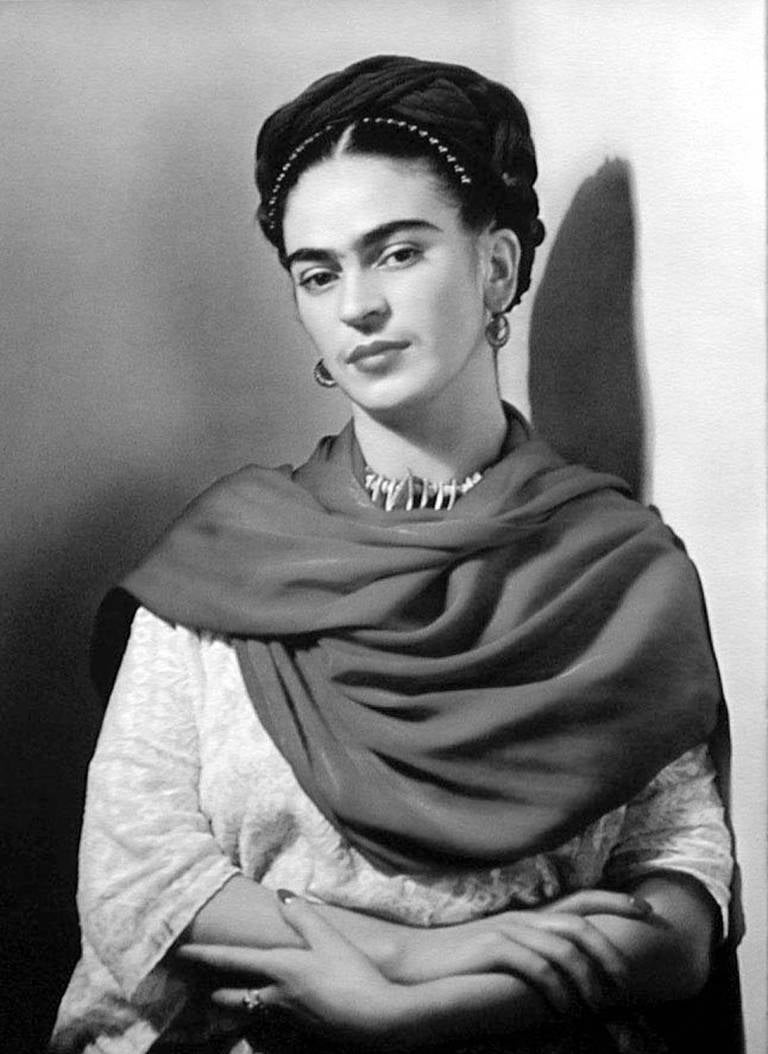 Nickolas muray black and white photograph frida kahlo