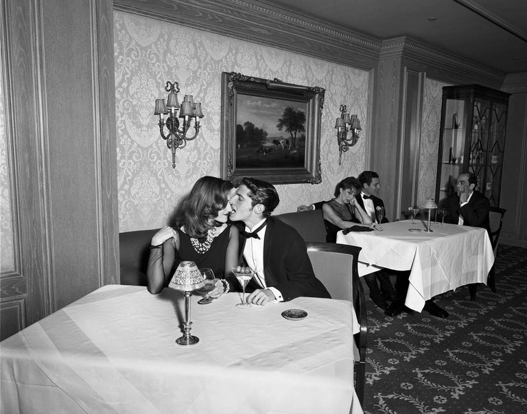 Geof Kern Black and White Photograph - Untitled (Couples at the Ritz)