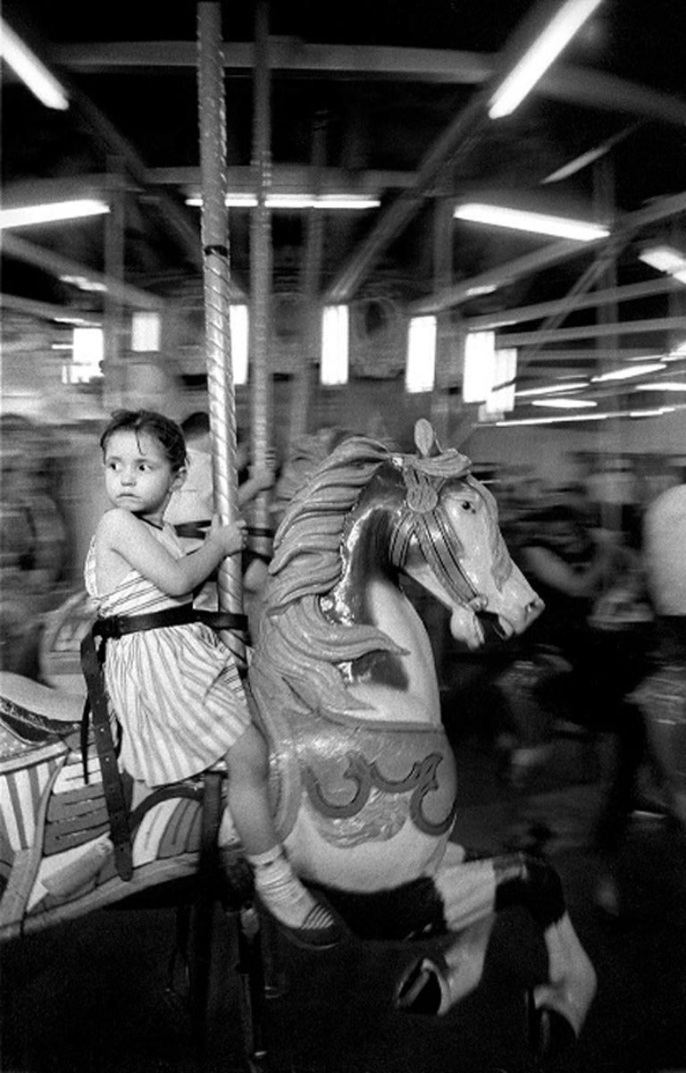 Girl on the Merry-Go-Round, Coney Island