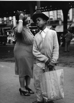 Mother and Son Shopping, Ninth Ave, NYC